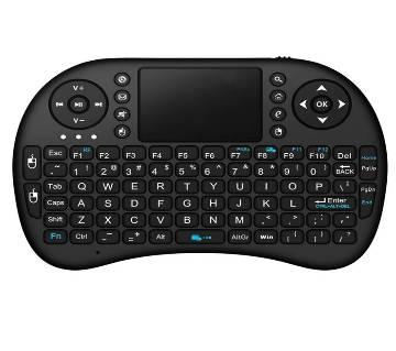 পকেট ওয়্যারলেস কীবোর্ড with Touchpad Mouse, LED Back light, Rechargable Li-ion Battery-Black