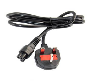 Laptop Charging Power Cord Cable- Black