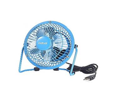 USB Powered Mini Desk Fan - Blue