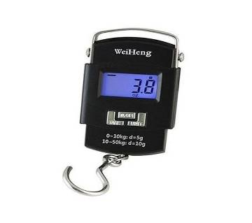 Portable electronic weight scale black