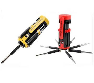 8 in 1 Screwdriver tool set with torch