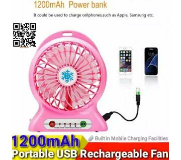 LED Mini USB Portable rechargeable fan