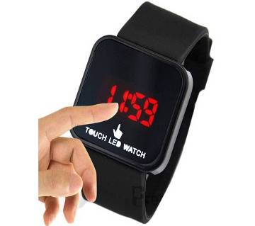 Black Touch Screen LED Watch