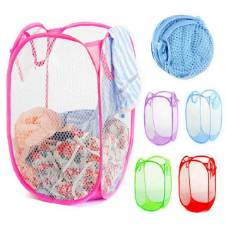 Foldable Pop Up Dirty Clothes Storage Baby Bag - Purple
