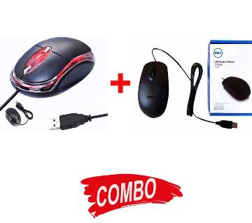 DELL USB MOUSE + USB Optical Mouse Combo Offer