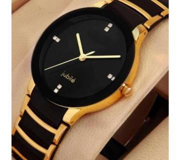 Rado golden watch  Stainless Steel Analog Watch for Men - Black and Golden