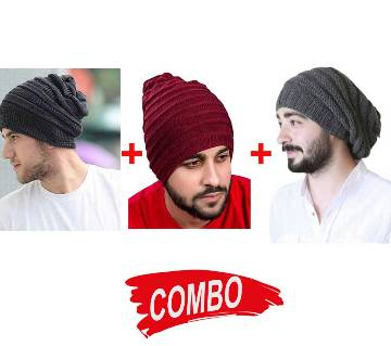 Beanie WINTER CAP (3 Colors) Combo Offer