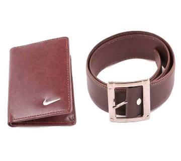 PU Leather Menz Wallet  Menz Leather Formal Belt Combo