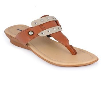 Leather Casual Ladies Flat স্যান্ডেল - Master color