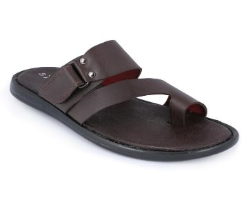 Leather Sandal for Men - Chocolate