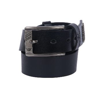 Armani Adjustable Smooth Buckle  Leather Belts for Men