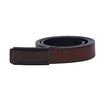Ziczac Adjustable Smooth Buckle  Leather Belts for Men