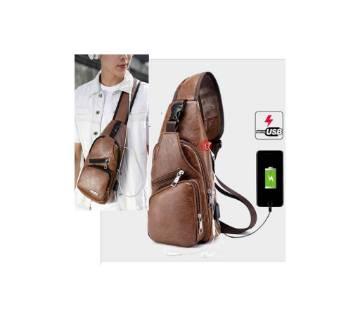 Men's PU Leather Shoulder Chest Bag