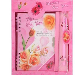 Pen with Lock Diary - Gift Set
