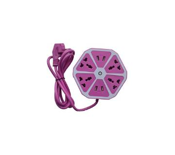 USB Hexagon মাল্টিপ্লাগ সকেট