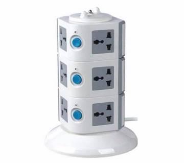 3 Layers Multi Plug With 2 USB Ports