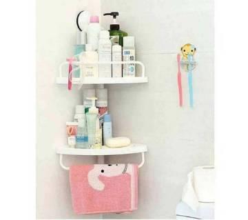 2 layer corner shelf.