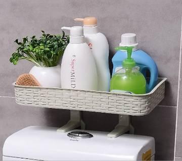 Perforation Free Bathroom Shelf Wall, Wall-Mounted Storage Rack