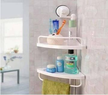 Corner shelf for bathroom.