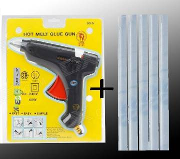 Hot Melt Glue Gun & Glue Gun Stick (5 pcs).