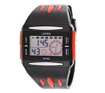 Lasika Digital Wrist Watch for Men-Red