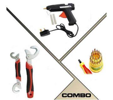 Snap & Grip Tool + Glue Gun combo
