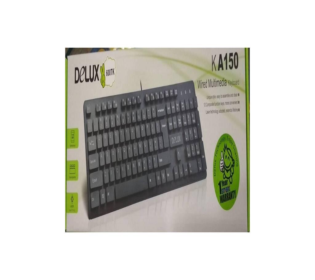 Delux মালটিমিডিয়া কী-বোর্ড KA150 - কালো বাংলাদেশ - 941837
