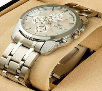 Tissot gents wrist watch copy-silver