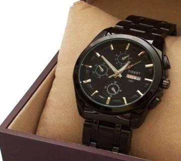 Tissot gents wrist watch copy-Black