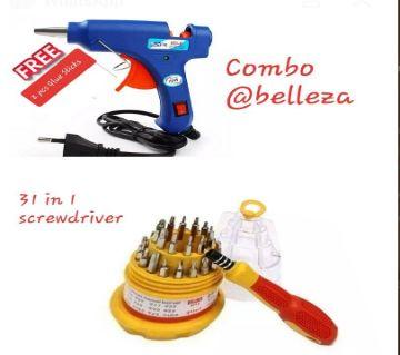 (2 IN 1 COMBO) 1 PCS gliu gan and 2 stick, 31 in 1 tool set