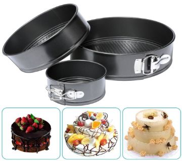 Non-stick Round Cake Pan Set 3 pcs