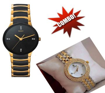 Rado Gents Watch+Rolex Ladies Watch Copy