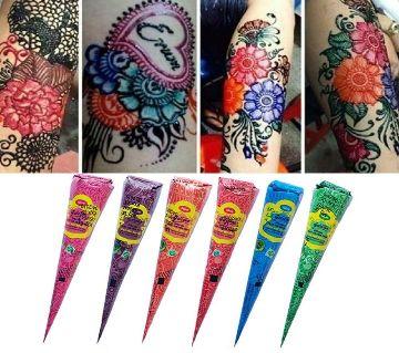Neha fast colour cone herbal mehedi  6pcs BD