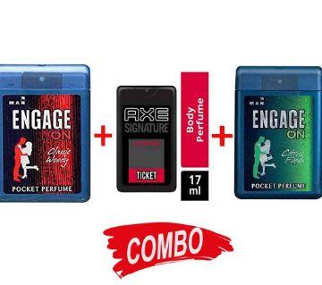 Axe Signature + Engage on Classic woody + Engage Citrus Fresh Pocket Perfume Combo Offer
