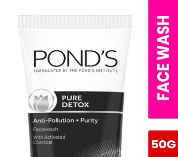 PONDS Pure White Anti Pollution Activated Charcoal Face Wash ( 50ml INDIAN )