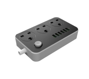 LDNIO 6 USB চার্জিং অ্যাডাপ্টার উইথ 3 সকেট