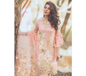 Sana Safinaz Unstitched Embroidery Cotton Three-Piece