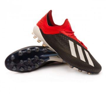 adidas X 18+ FG Mens Football Boots - Black White Red