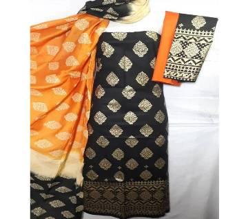 Unstitched Regular Design Pure Cotton Print Three-Piece