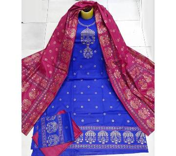 Unstitched Regular Design Pure Cotton Print Three-Piece