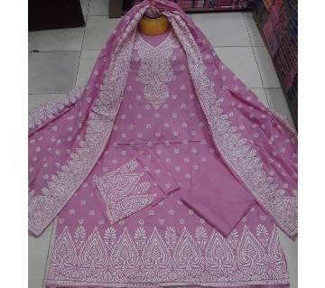 Unstitched Stylish Regular Design Pure Cotton Print Three-Piece