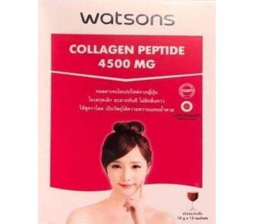 Watsons Collagen peptide 4500 Mg Drinking Juice-15pack box-Thailand