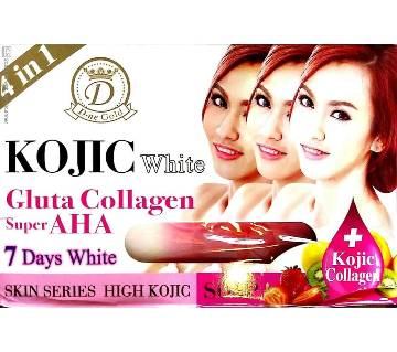 Kojic White Gluta Collagen Super AHA Soap-160gm-Thailand