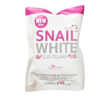 Snail_White Gluta Collagen Plus  Soap -80gm-Thailand