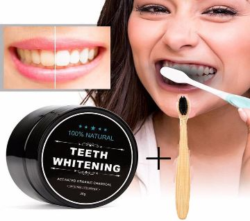 Bamboo Activated Charcoal Powder Teeth Whitener-30gm-Thailand