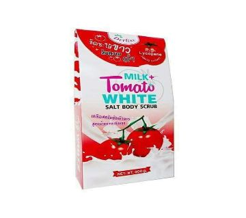Milk+ Tomato White salt body scrub-300gm-Thailand