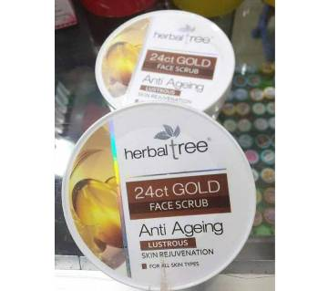 Herbal _ Tree 24ct Gold Face scrub-180gm-India