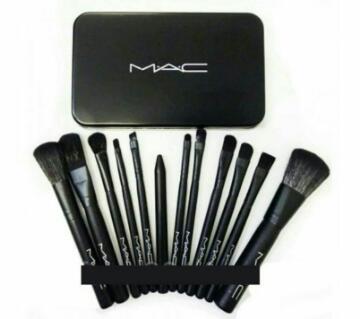 Mac মেকআপ ব্রাশ সেট - ১২ পিস - UK