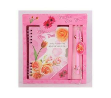 Valentine Lock Diary Gift Set