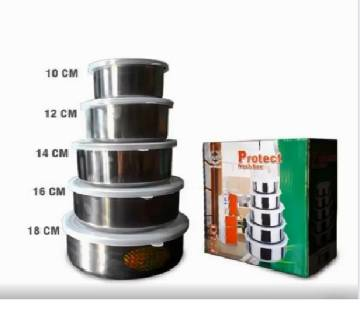 5 piece Stainless Steel Food Box